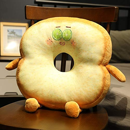 New funny sliced bread plush pillow toy food toast soft stuffed doll snack decoration backrest chair cushion kids girl home decoration birthday without battery 40cmX40cmX12cm