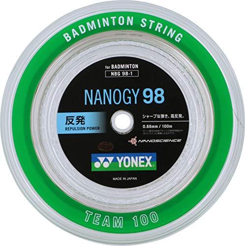 ヨネックス(YONEX) バドミントン ストリングス ナノジー98 (0.66mm) NBG98-1 シルバーグレー ロール100m