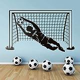 Etiqueta de la pared del fútbol Pegatina de fútbol Jugador de fútbol Jugador de fútbol Calcomanía de deportes Fútbol Nombre personalizado Pegatina de vinilo Fotomural Decoración de la casa 70x42cm