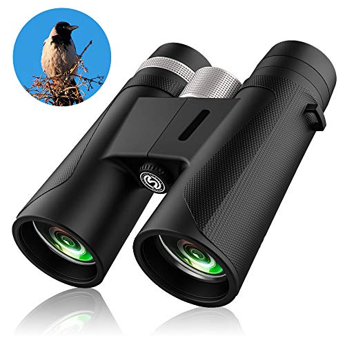 12x42 Compact Binoculars for Adults and Kids,Professional Binoculars for Bird Watching,Lightweight Binoculars (1.1 lbs.) Night Vision Binoculars for Bird Binoculars,Travel Binoculars for Hunting