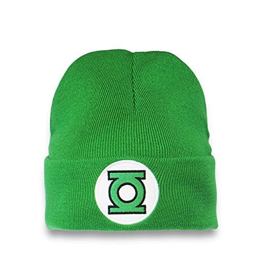 Logoshirt Bonnet en Laine La Lanterne Verte Logo - Bonnet DC Comics - Green Lantern Logo - Super-héros - avec Logo brodé - Vert - Design Original sous