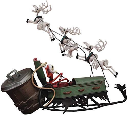 Nightmare Before Christmas Jack in Sleigh PVC Figure