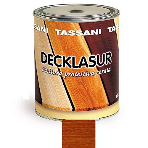 Decklasur Finitura Protettiva per Legno Cerata TASSANI Varie Colorazioni Lt.1 (Ciliegio 9320558)