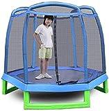 Trampolín de jardín Trampolín para niños con protección de Seguridad Net Grandest Backyard Trampoline Outdoor 214x214x180cm (actualización)