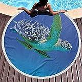 Manta de playa Baño de tortuga Toallas de playa Toallas de piscina Foto de tema acuático Tropical exótico Animal marino Natación Acuario Vida silvestre Suave, a prueba de decoloración Uso de playa y p