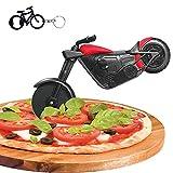 Motorrad Pizzaschneider, Edelstahl Kunststoff Lustiger Pizzaroller Pizzarad, Pizza Cutter mit...
