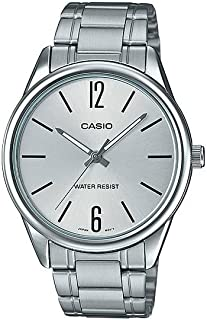 Casio Men's Silver Dial Stainless Steel Band Watch - MTP-V005D-7BUDF