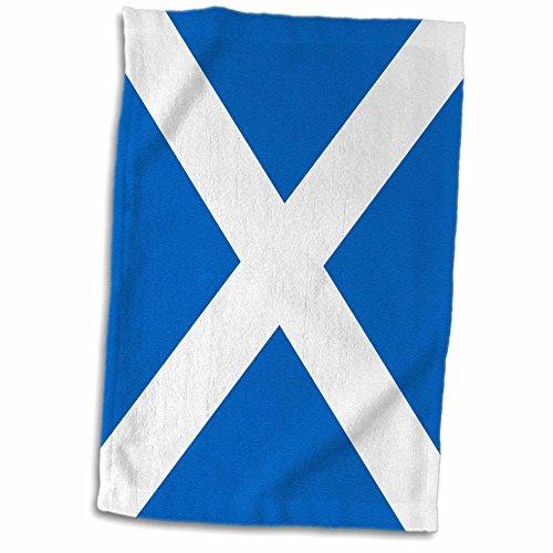 3dRose Flagge von Schottland, Schottische blau mit weiß Saint Andrews Kreuz Saltire, Schotten bis Vereinigten Königreich Handtuch, Mehrfarbig, 15x 22