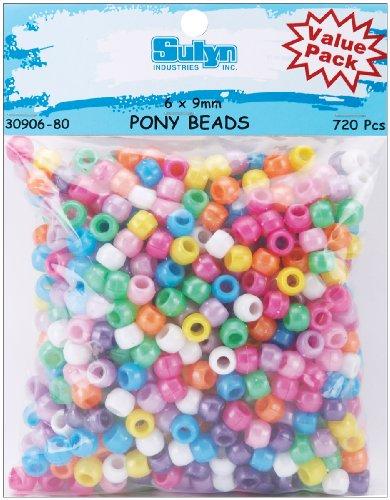 ADVANTUS CORPORATION Pony Beads Perlen, 6 x 9 mm, 720 Stück