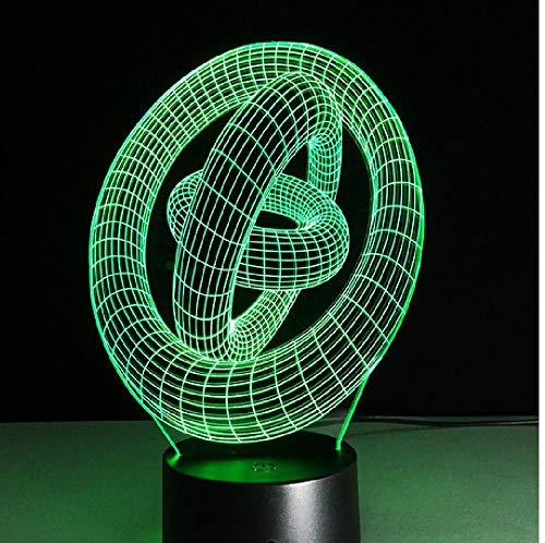Amazing 3D Illusion Art Abstract Rounds Led Lámpara De Mesa Touch Night Light Con Forma De Círculo Mágico Como Teléfono De Regalo Conexión Bluetooth