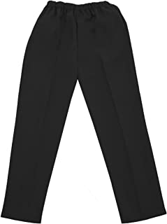 Silverts Disabled Elderly Needs Ladies/Womens Adaptive Clothing Open Back Wheelchair Pants - Black SMA