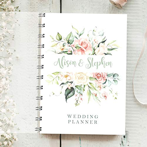 Personalised Wedding Planner Rose Bouquet 4 Year Diary Bride To Be Organiser Check List Budget Tracker Bride Journal Amazon Co Uk Handmade