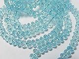 World Wide Gems Cuentas de piedras preciosas topacio azul cielo, piedras preciosas semipreciosas. Rondelas facetadas, 5x3 mm, hebra larga de 14 pulgadas código-HIGH-67766