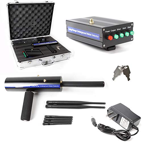 ZHFEISY 1200M Long Range Gold Metal Detector Gems Diamond Finder + 6 Antennas + Carry Case Detectors Metal