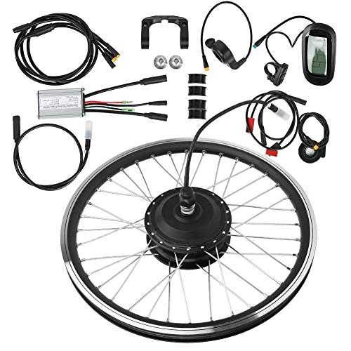 "T best Electric Bike Conversion Kit, 36V 250W 24""KT-LCD6 LCD Display Meter High Power Motor Instrument Bike Mountain Bicycle Wheel Conversion Kit (Rear Drive Rotating flywheel)"