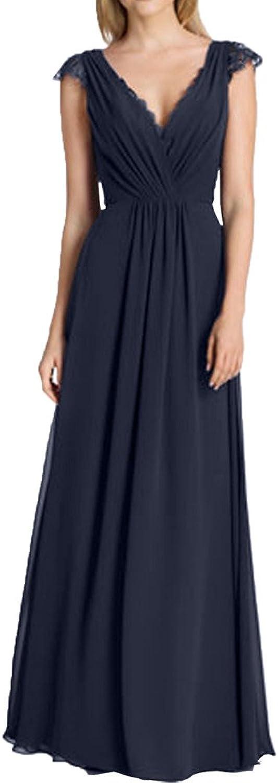 MILANO BRIDE Elegant Vneck Aline FloorLength Lace Mother's Gown Prom Dress