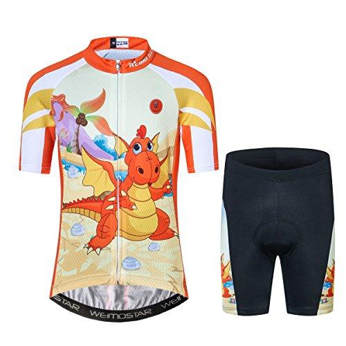 Niños Ciclismo Jersey Conjunto Ropa Niños Niñas Pantalones Cortos Pad Trajes