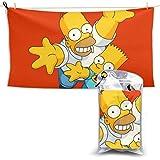 TUCBOA Toallas De Baño,Cartoon The Simpsons - Toallas De Playa para Adultos De Secado Rápido, Toallas De Baño Unisex De Primera Calidad para Viajes Y Acampadas,70x140cm