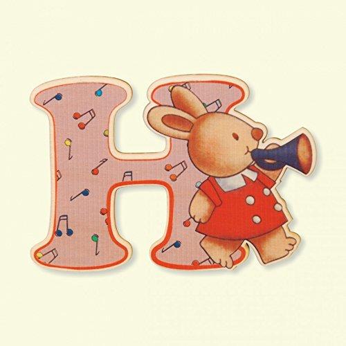 Dida - Lettre H Bois Enfant - Lettres Alphabet Bois pour Composer Le nom de Votre bébé et décorer la Chambre