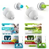 Pluggies Kids + SleepSoft Earplugs / Alpine Hearing Protection Bundle Deal - Noise Cancelling Ear Plugs for Kids Age 5-12 - Soft Filter Ear Plugs for Sleeping and Reduce Noises