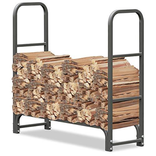 FIELDOOR ログラック/薪ストッカー 【ノーマルタイプ 幅101cm】 焚火 ストーブ 通気 乾燥 耐荷重500kg 簡単組立