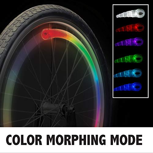 Bike Party Multicolor Spoke Light Set, Clear