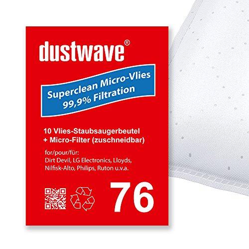 Sparpack - 10 Staubsaugerbeutel geeignet für Philips - TCX 431 Classique Bodenstaubsauger von dustwave® Markenstaubbeutel Made in Germany