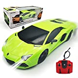 QUN FENG RC Car 1:18 Lamborghini Aventador Radio Remote Control Cars Electric Car Sport Racing Hobby Toy Car Grade Licensed Model Vehicle for Kids Boys and Girls Best Gift (Green)