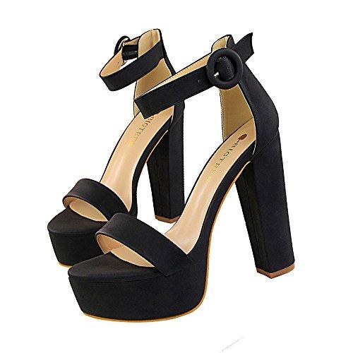 Donna Scarpe Tacco Alto Signora Classico Punta Aperta Sandali High Heels Alto Lavoro Festa Elegante Scarpe de Moda Tacco Taglia 13CM Piattaforma