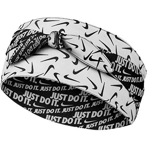 Nike Diadema Unisex para Adultos, Color Blanco y Negro, 6,5 cm