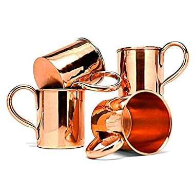 BonBon Luxury Moscow Mule Copper/Nickel Mug Cup 4 pack New (solid copper smooth)
