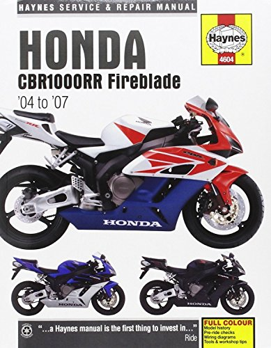 Honda Cbr1000rr Fireblade, '04-'07 Haynes Repair Manual: 04-07