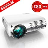 Projector, YABER 6500 Lumens 1080P HD LED Projector With 4D ±50° Keystone Correction