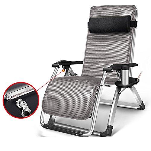 QIDI Chaise Longue Pliable Extérieur Métal 60 * 75 * 80cm (Couleur : Style 2)