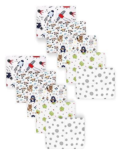 Be Mammy Paquete de 10 Conjuntos de Pañales para Bebés 80x80 cm BESD001 (Niño2 (10 Pack), 80x80)