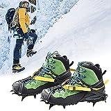 Crampons - Tacos de hielo de tracción para botas de nieve para zapatos de mujer y niños, antideslizantes de acero inoxidable, seguro para proteger para senderismo, escalada, montañismo