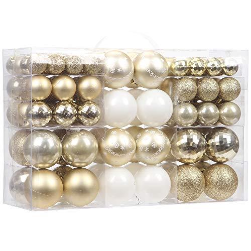 Sea Team 100 Pieces of Assorted Christmas Ball...