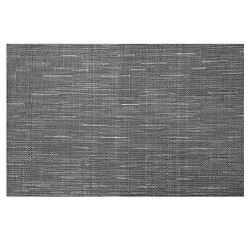Ferpro Tovaglietta all'Americana in textilene Intrecciato - Grigio - Set 4 Pezzi CM 30x45