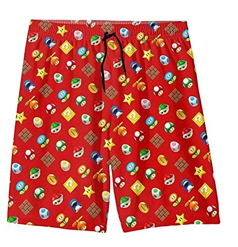 ZKDT Super Mario - Pantalones de playa de secado rápido, cintura elástica con impresión 3D, transpirables y cómodos, A 1., 160