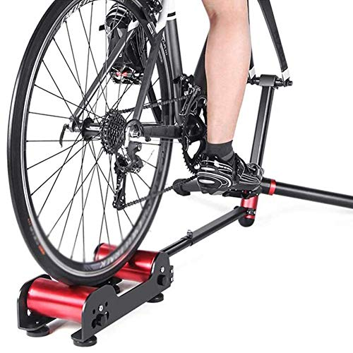 KFMJF Bike Trainer-Stand, Magnetic Fahrrad-Heimtrainer, Fixed Gear Trainer para Übungs-Eignung 20-29 aduanas bicicletas, rojo