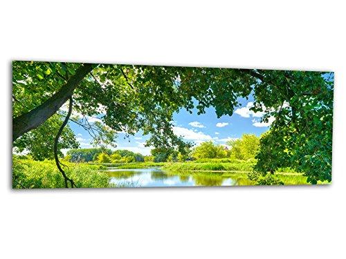 Glasbilder Echtglas Wandbilder Foto auf Glas Frühling Natur 125 x 50cm AG312502147 / Deco Glass, Design & Handmade/Eyecatcher, Kunstdruck!