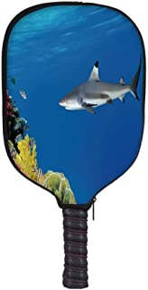 YOLIYANA Italian Fashion Racket Cover,Lago Di Camo Lake Famous Coastal Village with Aerial View Picturesque Panorama Decorative for Playground,8.3