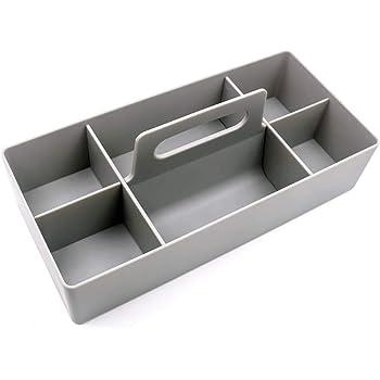 億騰 ツールキャリートレイ 収納 ボックス 万能 プラボックス 仕切り 持ち手付き 調整できる グレー