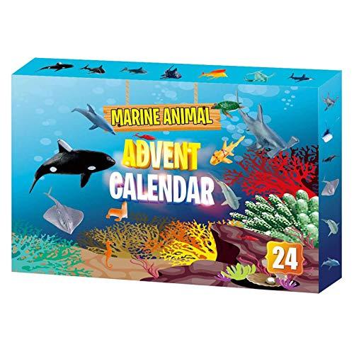 Jouets Enfants,Calendrier de l'Avent 2020 Animal marin 24pcs différents jouets de calendrier de compte à rebours,Jouets Pour Enfants
