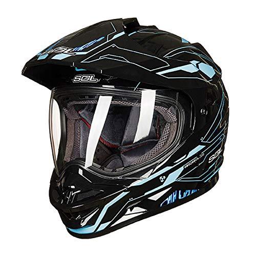 Casco de motocross, la motocicleta todo terreno Cruz adulto Casco de la...
