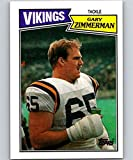 1987 Topps #207 Gary Zimmerman Vikings NFL Football Card (RC - Rookie Card) NM-MT. rookie card picture