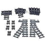 YOUX City - Juego de 26 piezas de extensión compatible con rieles Lego