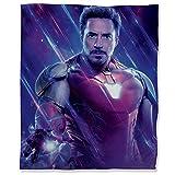Avengers Infinity War - Manta ultra suave de 180 x 230 cm, diseño de superhéroe, Iron Man