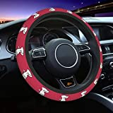 UHBBT Lovely Snoopy Streering Wheel Cover Universal Fit 15 Inch, Elasticity Auto Car Wheel Protector for Men Women