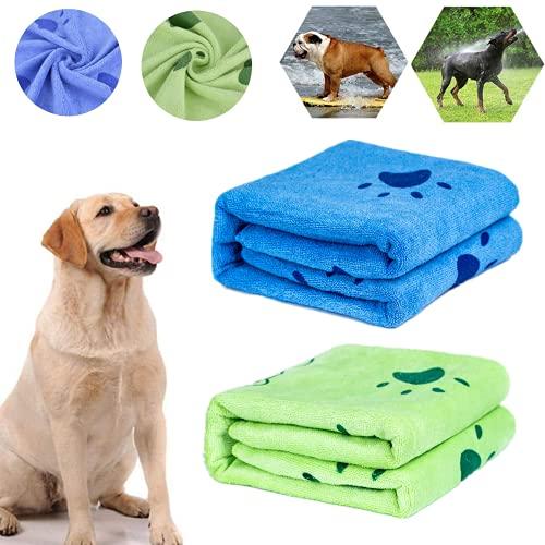 Toallas Baño Perros, 2Pcs Toallas de Baño para Perros, Toallas de Microfibra para Secar Perros,...
